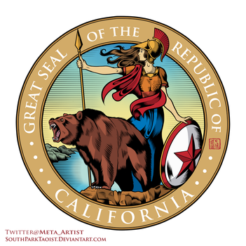 Seal of the Republic of California (Full Color) by SouthParkTaoist