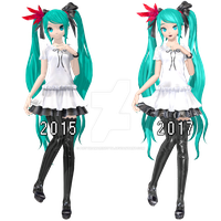 .: Supreme Miku Update 2017 Comparation :. by PiettraMarinetta