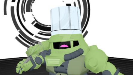 Zaku Be Cooking Up Evil by Binaryrobot