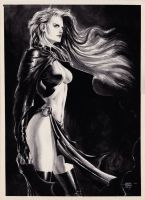 Goblin Queen Black and White by edtadeo