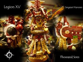 Thousand Son Sergeant Ramsses by aapie014