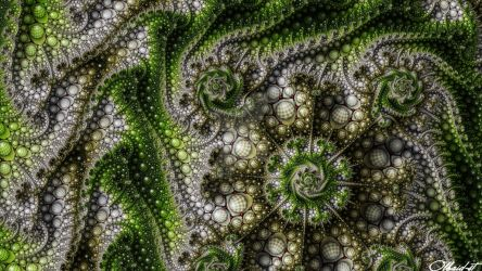 Mandelbrot 166 - Rolling Greens - by Olbaid-ST