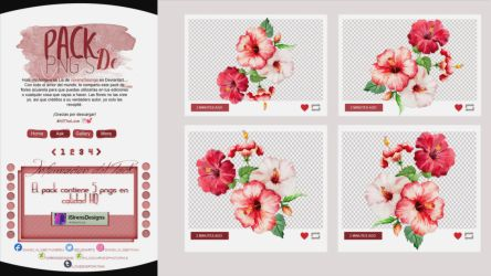 ~~.Pack de flores Acuarela by ISirensDesigns