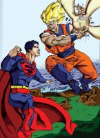 Goku vs. Superman by thelearningcurv