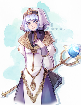 Pious Cleric. by espurressos