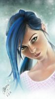 Blue Hair by phix701