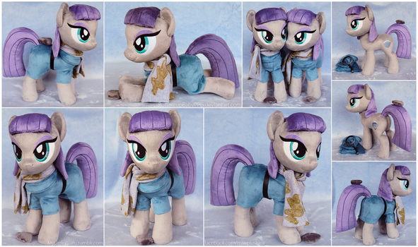 Maud Plushies with Boulder and scarf by ButtercupBabyPPG
