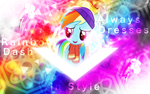 Rainbow Dash Always Dresses in Style by Sol-R