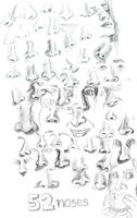 52 noses by scribblepuff