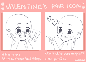Valentine's Pair Icon Base by jaqdaw