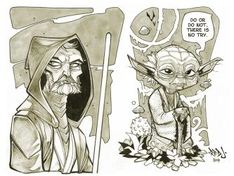 Yoda and Old Ben Kenobi by Red-J