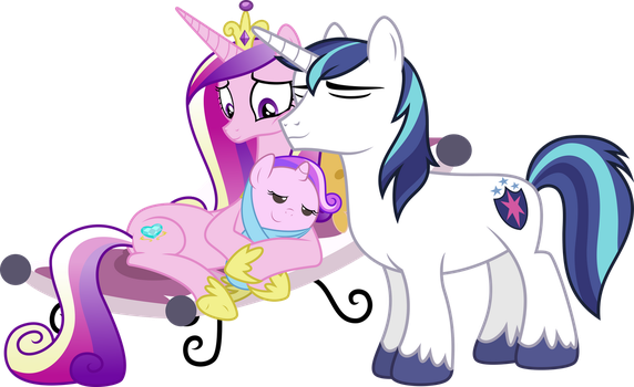 Shining Armor + Princess Cadence [Request] by Powerpuncher