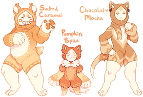 Flat Sale:  Maskcatz Coffee Trio [CLOSED] by TheRiversEdge
