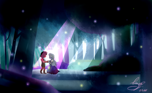 Something Entirerily New (Ruby and Sapphire) by SeaSlain