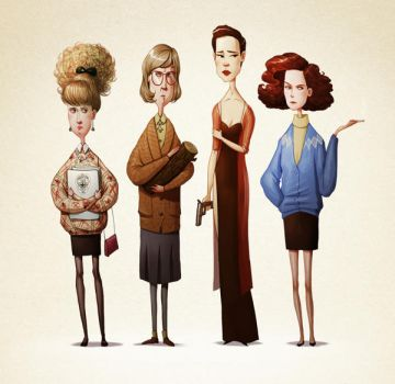 Twin Peaks characters by room4shoes
