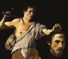 Caravaggio Brush painting study by HenryBiscuitfist