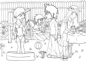 Summer Days--lineart by Melaninny