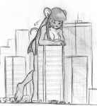 Giantess Sketch - Violet by Colonel-Gabbo