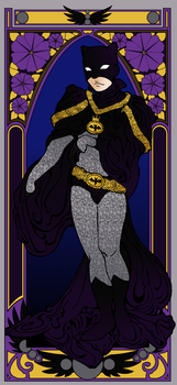 Batman Art Nouveau by xFannyx