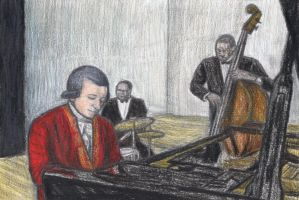 Mozart as a jazz pianist by gagambo