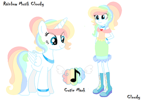 Ri Musik Cloudy Pony - Cutie mark and E.Girl by Cloudy-Risicpaint