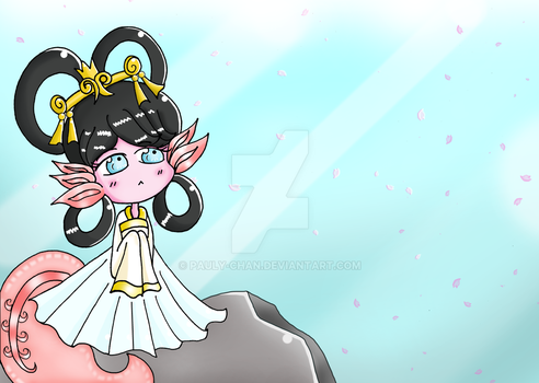 The wait for the Otohime Axolote (oc) by Pauly-chan