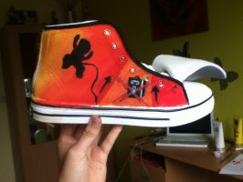 WIP of my Rise Against shoe by TheAgeOfInformation