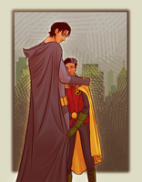 grayson and wayne by LizCoshizzle