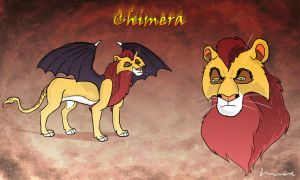 Chimera Looking Serious by Louisetheanimator