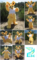 Jolteon Pokemon Fursuit - Kemono Style (2015) by Eternalskyy