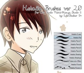 + Hetalia Brushes ver 2.0 | For MS5/CSP + by SerketXXI
