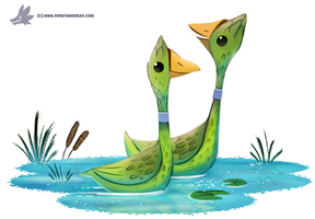 Daily Paint #1214. Asparageese by Cryptid-Creations
