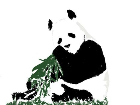 Panda for a T by marvah
