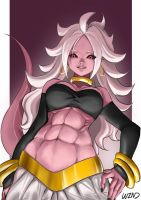 majin android 21 by W-in-D
