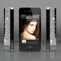 Apple iPhone 4 - 3D Render by mike-reiss