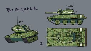 Type 34 Light Tank by Pyrosity