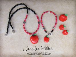 Red Apple Jewelry Set by ArteDiAmore