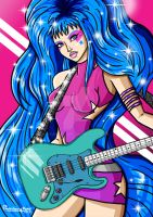 Aja (Jem and the Holograms) by PHATboyArt