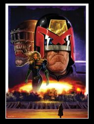Judge Dredd and Anderson pinup by LiamSharp