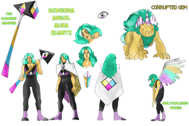 Gemsona Angel Aura Quartz Remake by FaridCreator