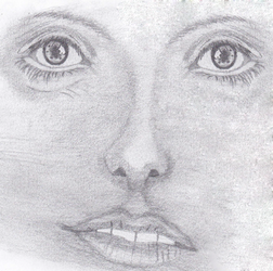 Sketch of a face by jatobi