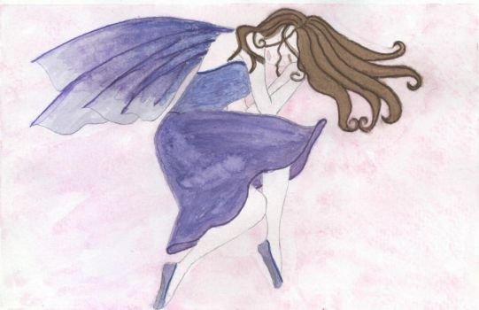 Sleeping Fairy watercolor by kumoriNox