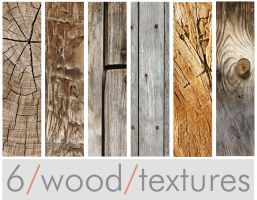 Six Wood Textures by lostandtaken