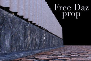 Freebie Fence and Road Prop by Poses17