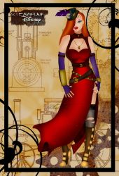 Steampunk Jessica Rabbit by HelleeTitch