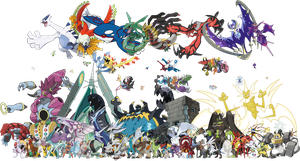 All Legendary Mythical UB Pokemon PNG