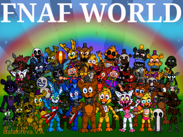 FNAF World by PinkFlam17