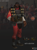 Demoman - Team Fortress 2 (Blue and Red) by JhonyHebert