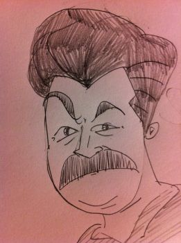 ron swanson by mikeydoy