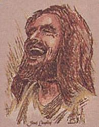 Jesus Laughing by Pyrochimp